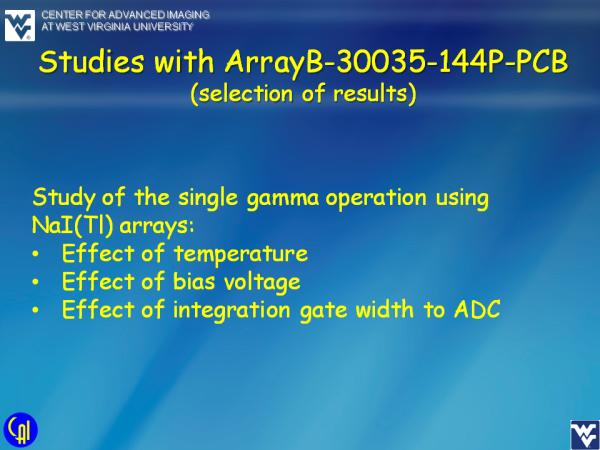 ArrayB-30035-144P-PCB NaI(Tl) Studies Slide 1