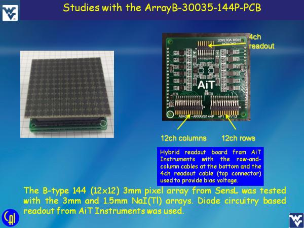 ArrayB-30035-144P-PCB NaI(Tl) Studies Slide 2