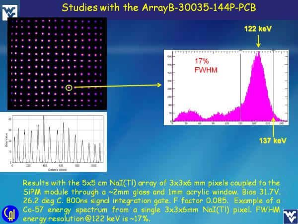 ArrayB-30035-144P-PCB NaI(Tl) Studies Slide 8