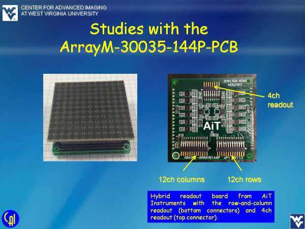 ArrayM-30035-144P-PCB 4ch Readout Studies Slide 1