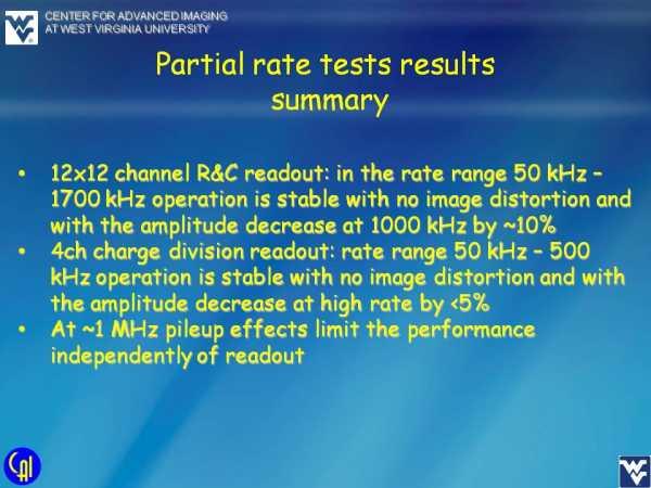 ArrayM-30035-144P-PCB Rate Studies Slide 5