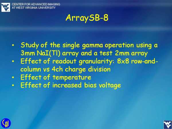 ArraySB-8_NaI_Studies Slide 1
