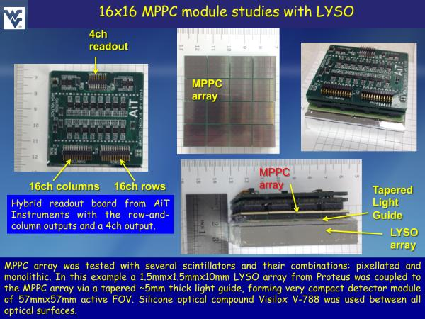 S12642X16 LYSO Studies Slide 1